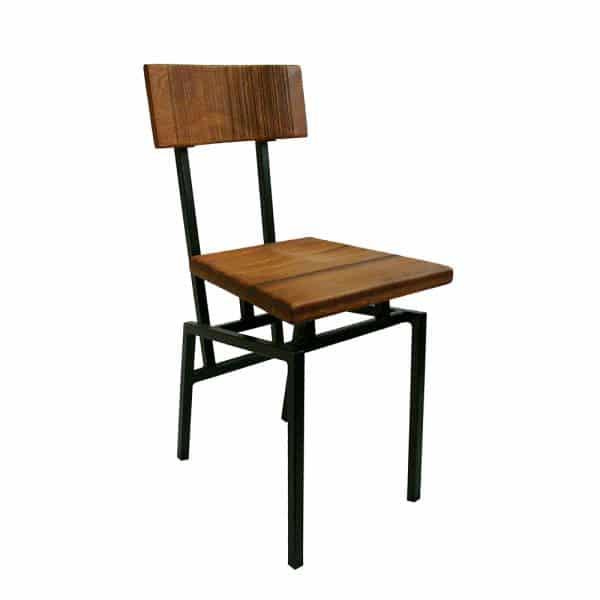 houten industriële stoel Paris